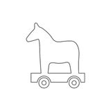 Trojan horse  ,  wood horse Royalty Free Stock Images