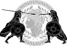 Trojan oorlog Royalty-vrije Stock Foto's