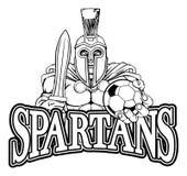Trojan Spartan Soccer Football Sports Mascot stock afbeelding