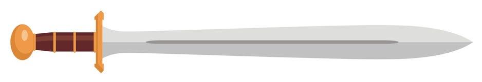 Trojan sword. Vector illustration of trojan sword Royalty Free Stock Photo