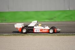 Trojan T103â€- 1 1974 före detta Tim Schenken för formel 1 Fotografering för Bildbyråer