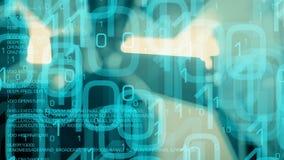 Trojan Virus des Computerwurmes, Cyberangriffs-Bewegungshintergrund vektor abbildung