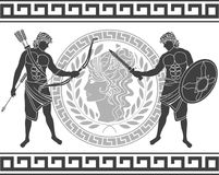 Trojan war. fifth variant Royalty Free Stock Photography