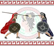 Trojan war. Fourth variant. vector illustration Royalty Free Stock Image