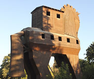 Trojan Wooden Horse stock images