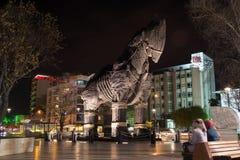 Trojanska hästen i Canakkale, Turkiet Royaltyfria Foton