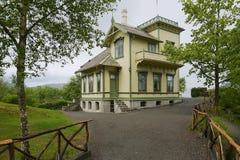 Troldhaugen,著名挪威作曲家爱德华・格里格的家在卑尔根,挪威 库存图片
