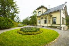 Troldhaugen, huis van de beroemde componist Edvard Grieg in Bergen, Noorwegen Stock Fotografie