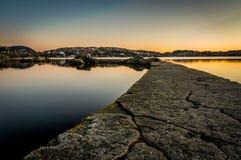 Troldhaugen solnedgång, Norge, Bergen Royaltyfri Foto