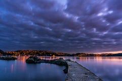 Troldhaugen solnedgång, Norge, Bergen Fotografering för Bildbyråer