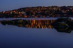 Troldhaugen-Sonnenuntergang, Norwegen, Bergen Stockfotografie