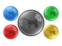 Trole, botão, ilustração 3d Fotografia de Stock Royalty Free