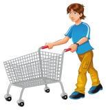 Trole da compra Imagens de Stock