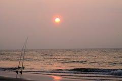Trole en la salida del sol Imagen de archivo libre de regalías