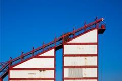 Trole industrial do trilho foto de stock