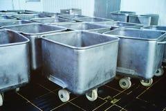 Trole para o alimento na fábrica da carne Imagem de Stock Royalty Free