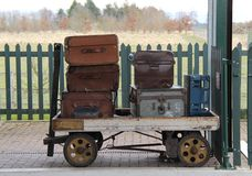 Trole Railway da bagagem. Fotografia de Stock
