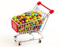 Troley avec des sucreries Photographie stock libre de droits