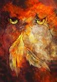 troll темы квадрата картины изверга фантазии абстрактного демона состава предпосылки темный цифровой искусство самомоднейшее Drea Стоковые Изображения