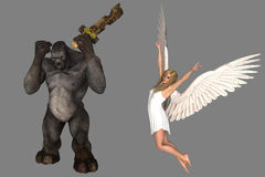 Troll and angel Stock Photos