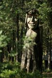 Troll. A Troll carved out of wood in the forest of Mount Floyen near Bergen, Norway Stock Image