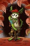 Troll del fumetto di fantasia Arte comica di concetto di stile dell'illustrazione del carattere del gioco illustrazione vettoriale