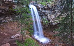 Troll Falls in Kananaskis Country Alberta Foothills Royalty Free Stock Images