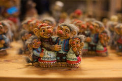 Troll family. A typical souvenir from Sweden Royalty Free Stock Images