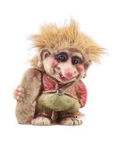 Troll figurine isolated on a white backgeound Stock Image