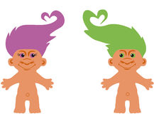 Cartoon character troll Stock Image