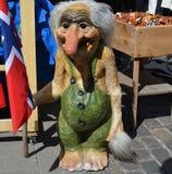 Troll. With Norwegian flag in Oslo Stock Photo