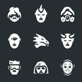 Vector Set of Post-apocalypse Characters Icons. stock illustration