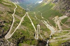 Troll road. Famoust Troll road (Trollstigen or Trollstigveien) in Norway Stock Photo