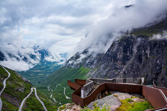 Troll road lookout. Observation deck view point beautiful nature norway Royalty Free Stock Photography