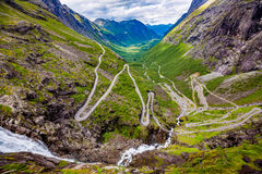 Troll road lookout. Observation deck view point beautiful nature norway Royalty Free Stock Photos