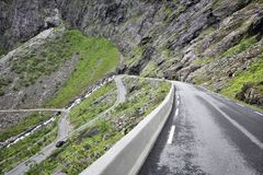 Troll Road, Norway. Dangerous mountain road with hairpin curves Stock Photo