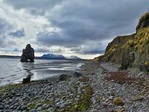 Troll in the sea. Hvítserkur the troll of the North, Vatnsnesnesvegur, Iceland Royalty Free Stock Photography