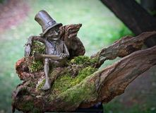 Troll. Sitting on stump Royalty Free Stock Images