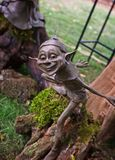 Troll. Standing  on the stump Royalty Free Stock Images