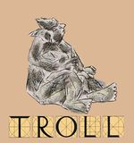 Troll with title Royalty Free Stock Image
