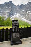 The Troll Wall is the tallest vertical rock face in Europe, abou Royalty Free Stock Photo