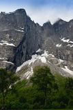 The Troll Wall is the tallest vertical rock face in Europe, abou Royalty Free Stock Images