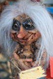 Troll with white hairs. Small norwegian troll with white hairs Stock Image
