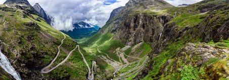 Troll's Path Trollstigen or Trollstigveien winding mountain road Stock Photo