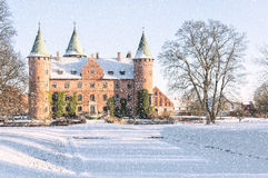 Trolleholm Castle in the Snow Royalty Free Stock Photos