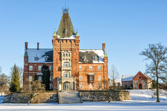 Trollenas Castle in Winter Royalty Free Stock Images