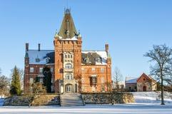 Trollenas-Schloss im Winter Lizenzfreie Stockbilder