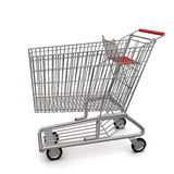 Trolley. Metall trolley from the supermarket stock illustration