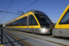 Trolley. Modern light rail trolley at Porto city in Portugal Stock Photography
