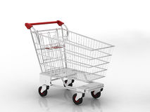 Trolley. Shopping chart with white background vector illustration